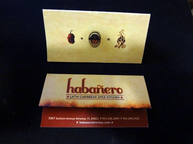 Habanero Spice Kitchen Business Cards
